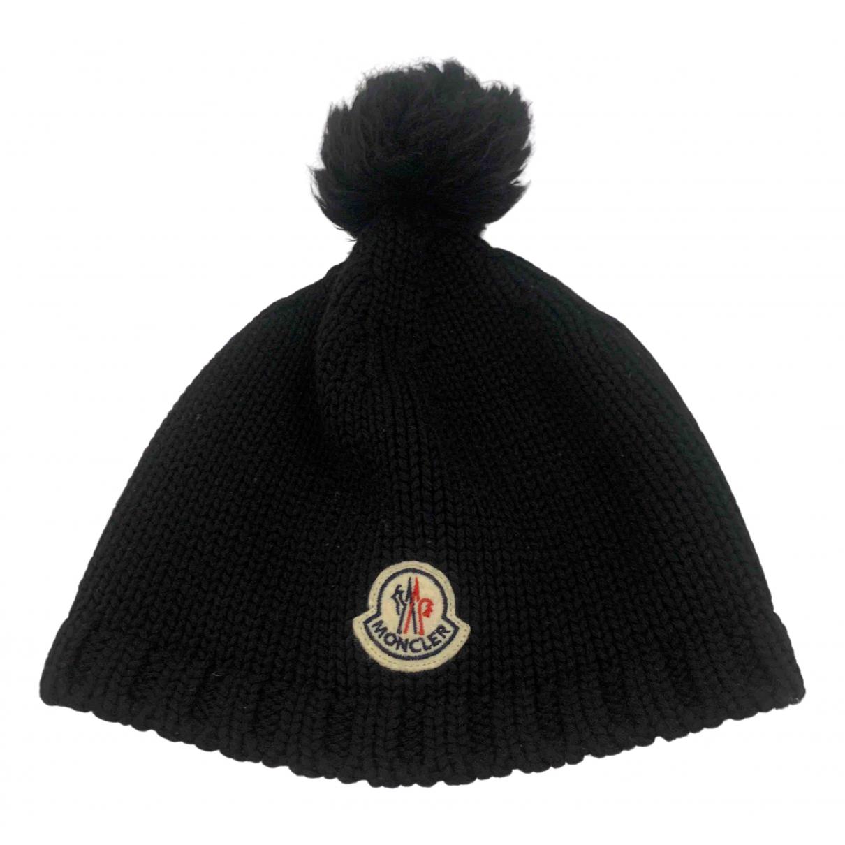 Moncler N Black Wool hat & pull on hat for Men M International