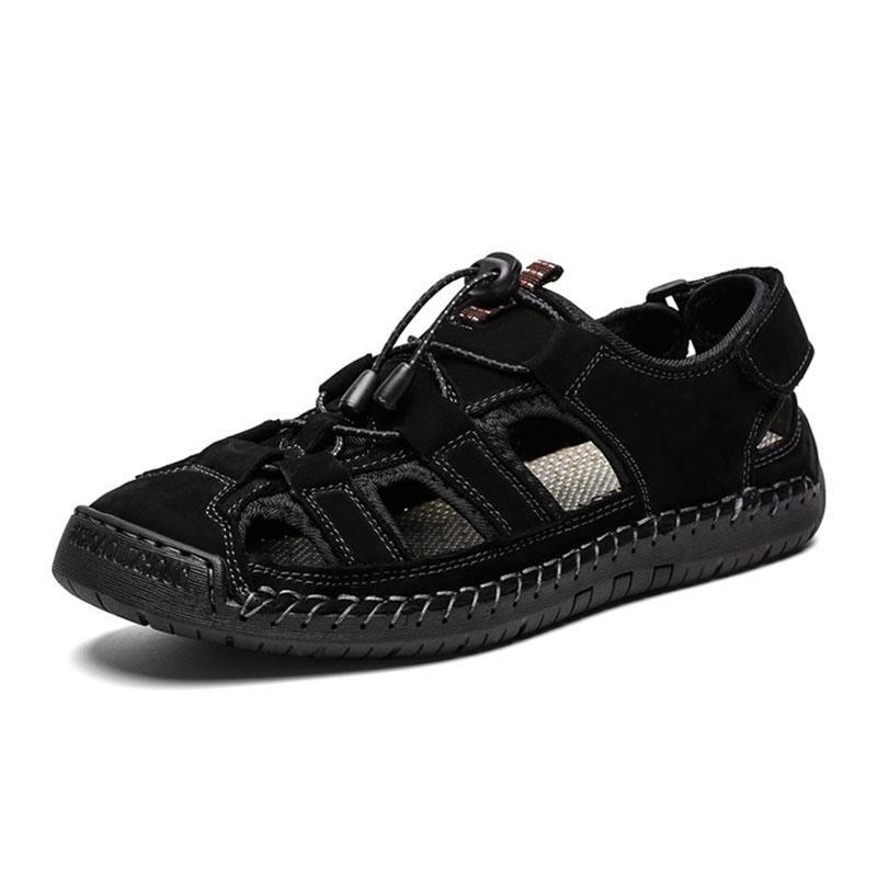 Ericdress Velcro Simple Hollow Men's Sandals