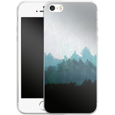 Apple iPhone 5 Silikon Handyhuelle - Woods Abstract von Mareike Bohmer