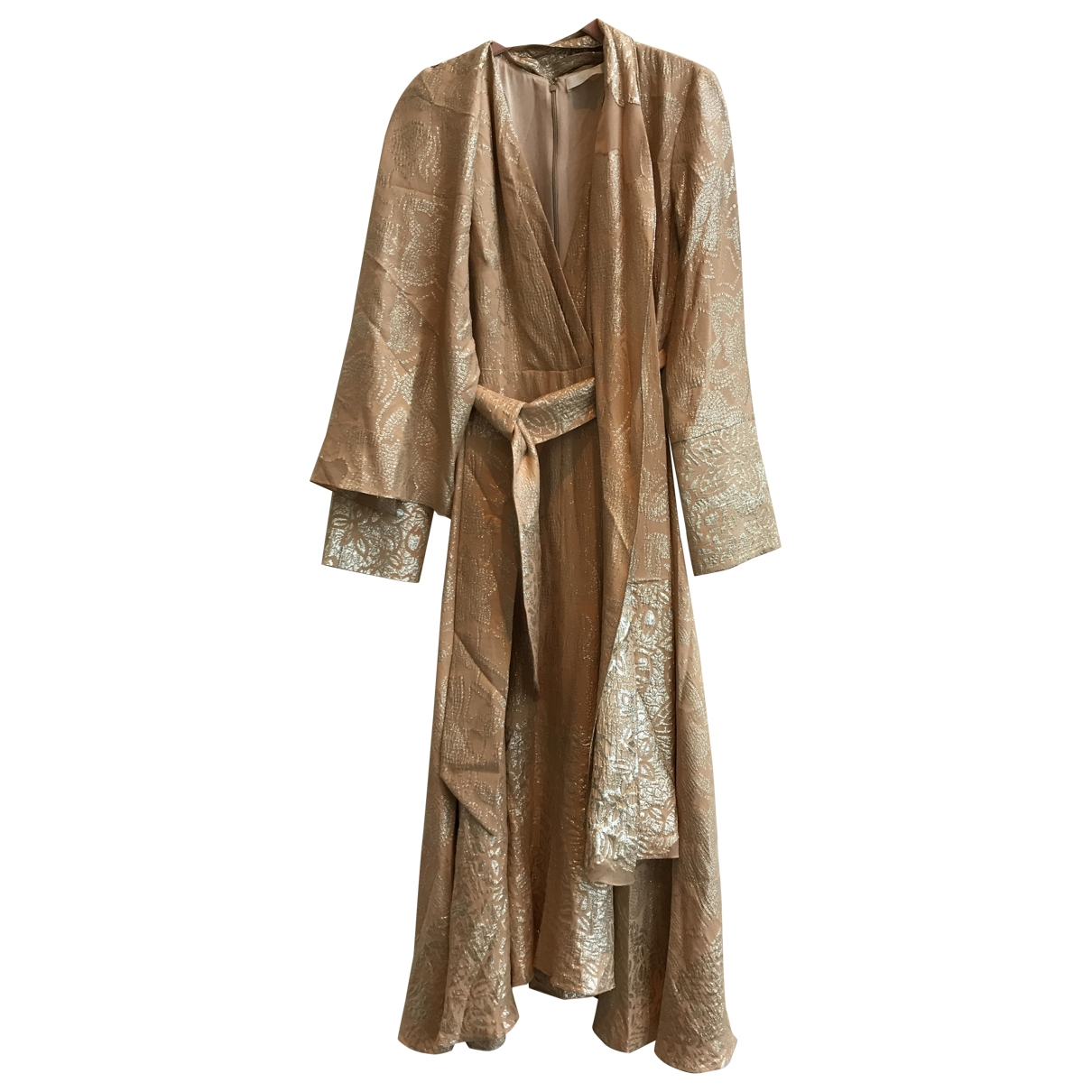 Partow - Robe   pour femme en soie - dore