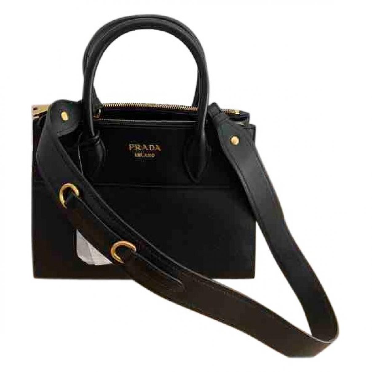 Prada Paradigme Handtasche in  Schwarz Leder