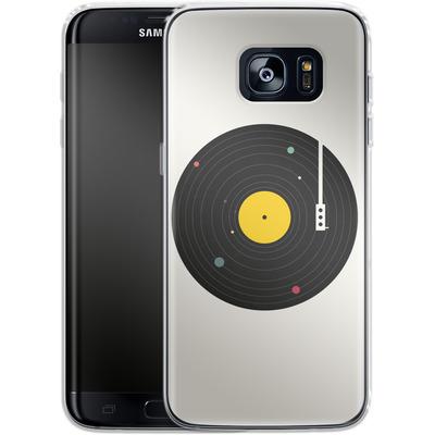 Samsung Galaxy S7 Edge Silikon Handyhuelle - Music Everywhere von Florent Bodart