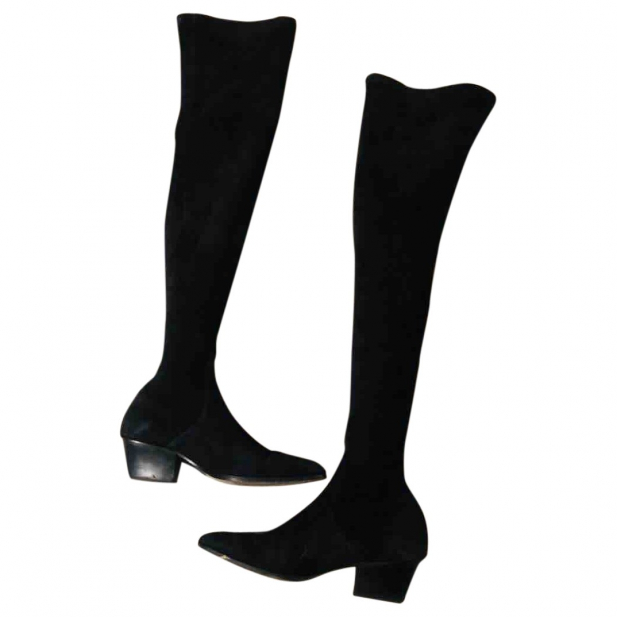 Sandro \N Black Suede Boots for Women 37 EU