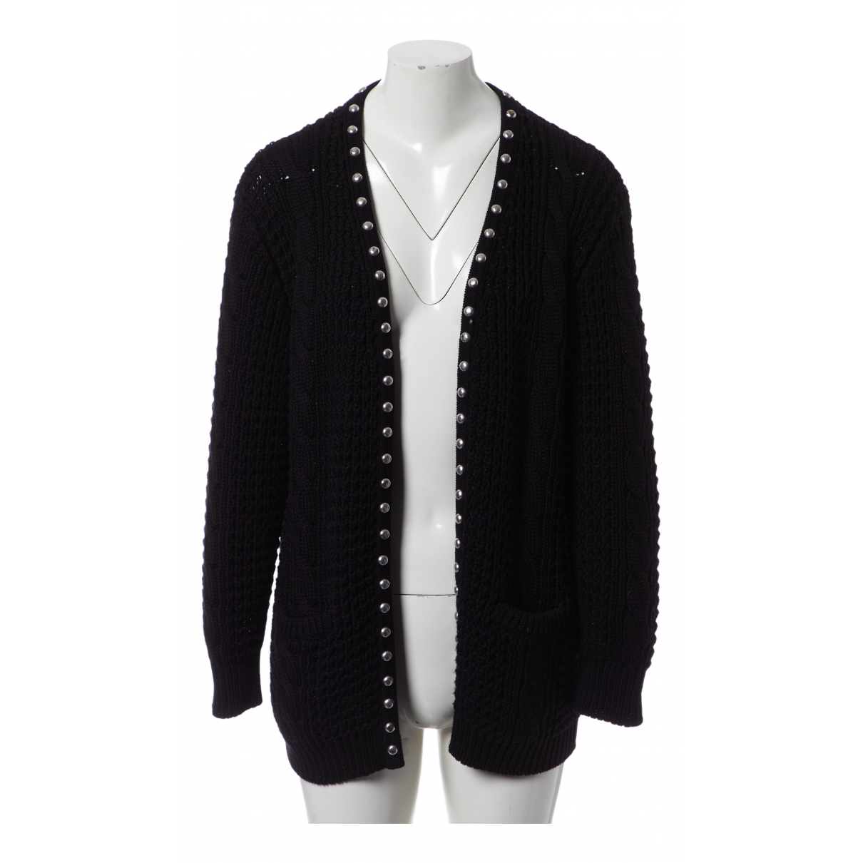 Saint Laurent \N Black Cotton Knitwear for Women M International