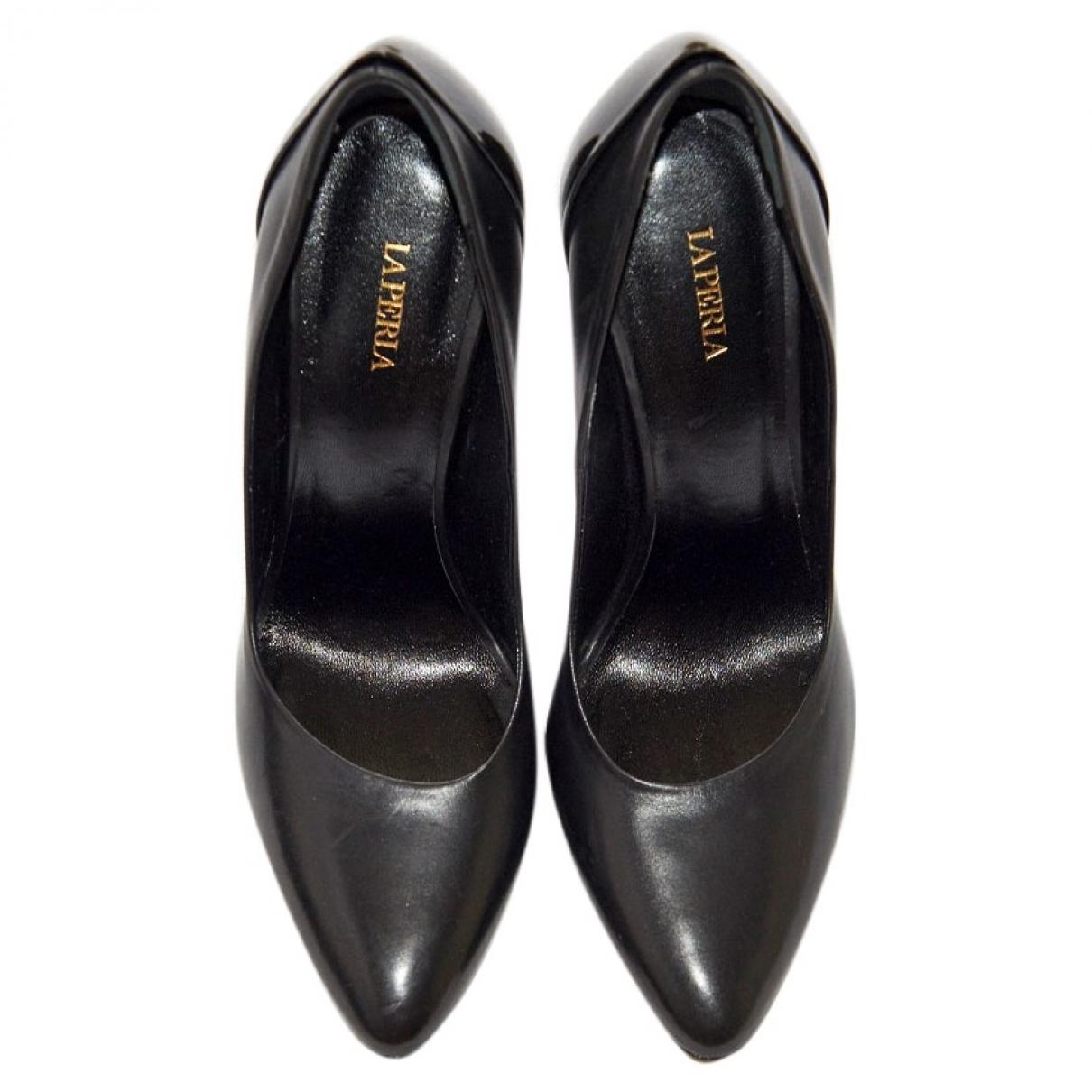 La Perla \N Black Leather Heels for Women 38 EU