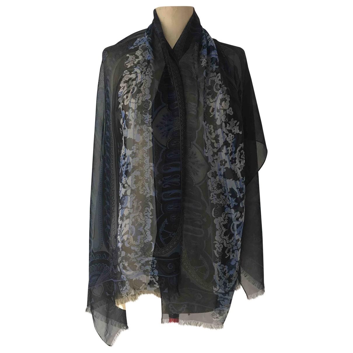 Etro \N Blue Silk scarf for Women \N