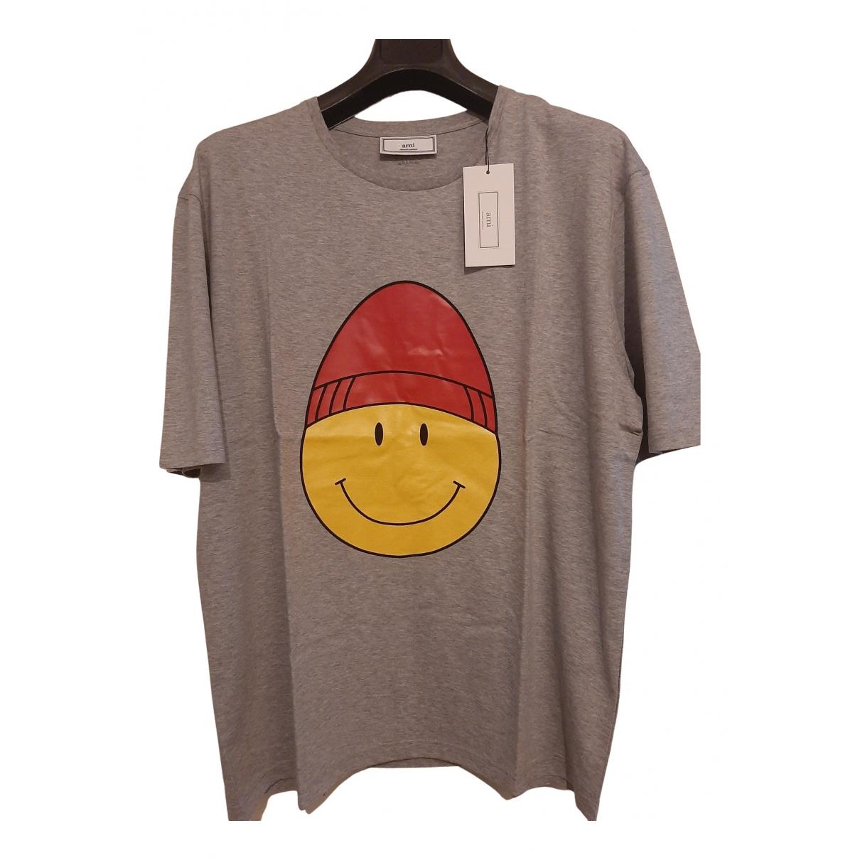 Ami \N T-Shirts in  Grau Baumwolle