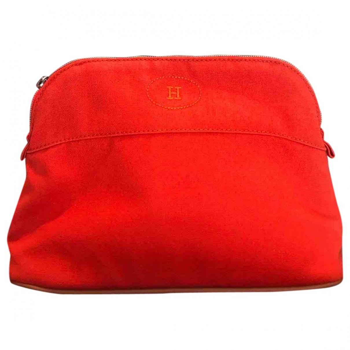 Hermes - Sac de voyage Bolide pour femme en toile - orange