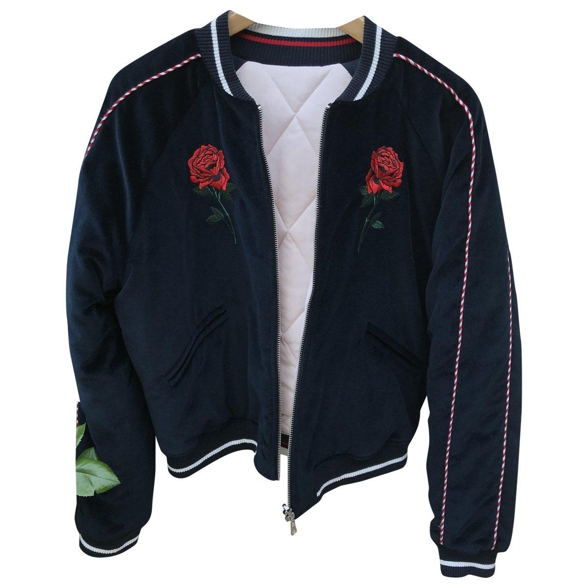 Sandro \N Blue Velvet jacket for Women 38 FR