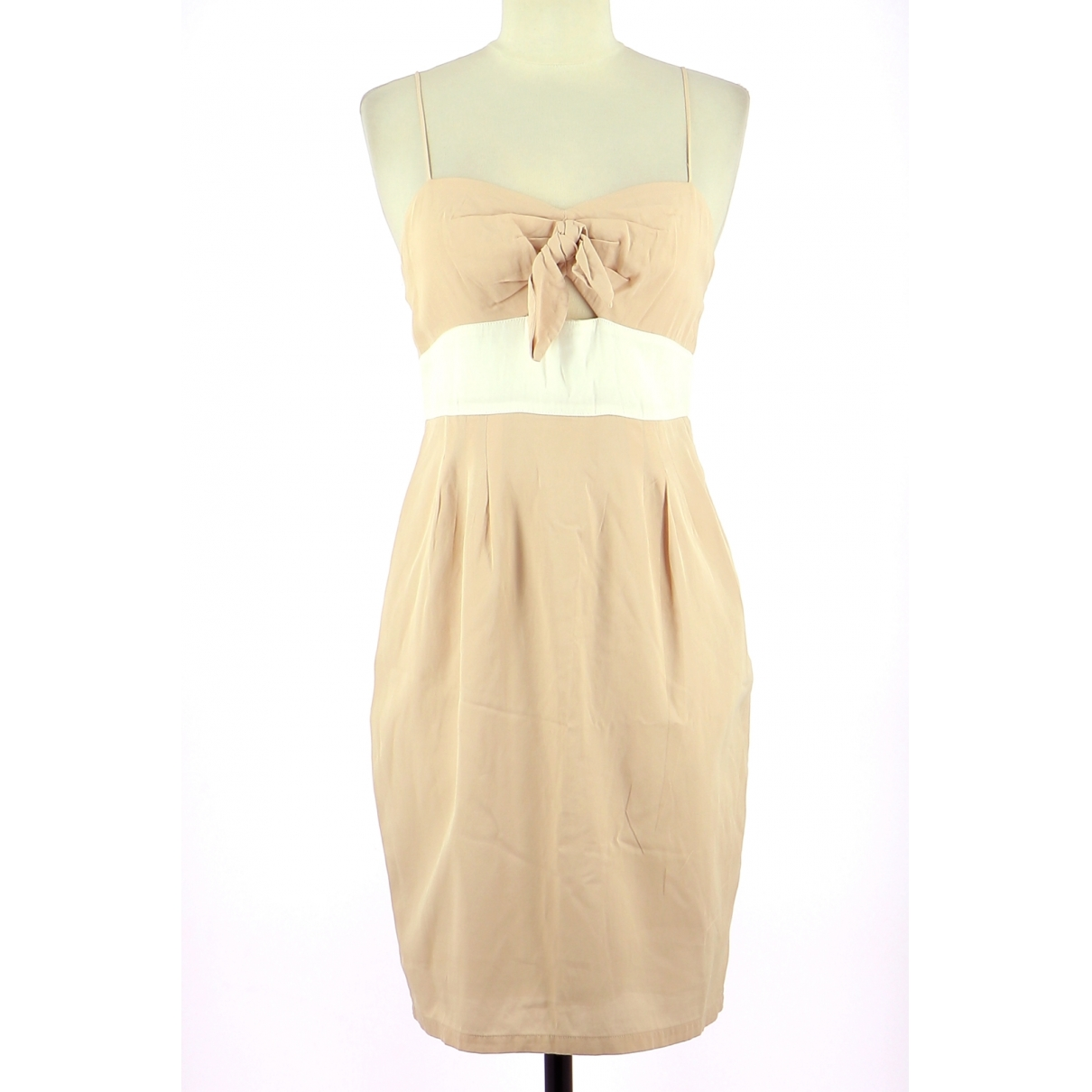 Sandro \N Kleid in  Beige Viskose