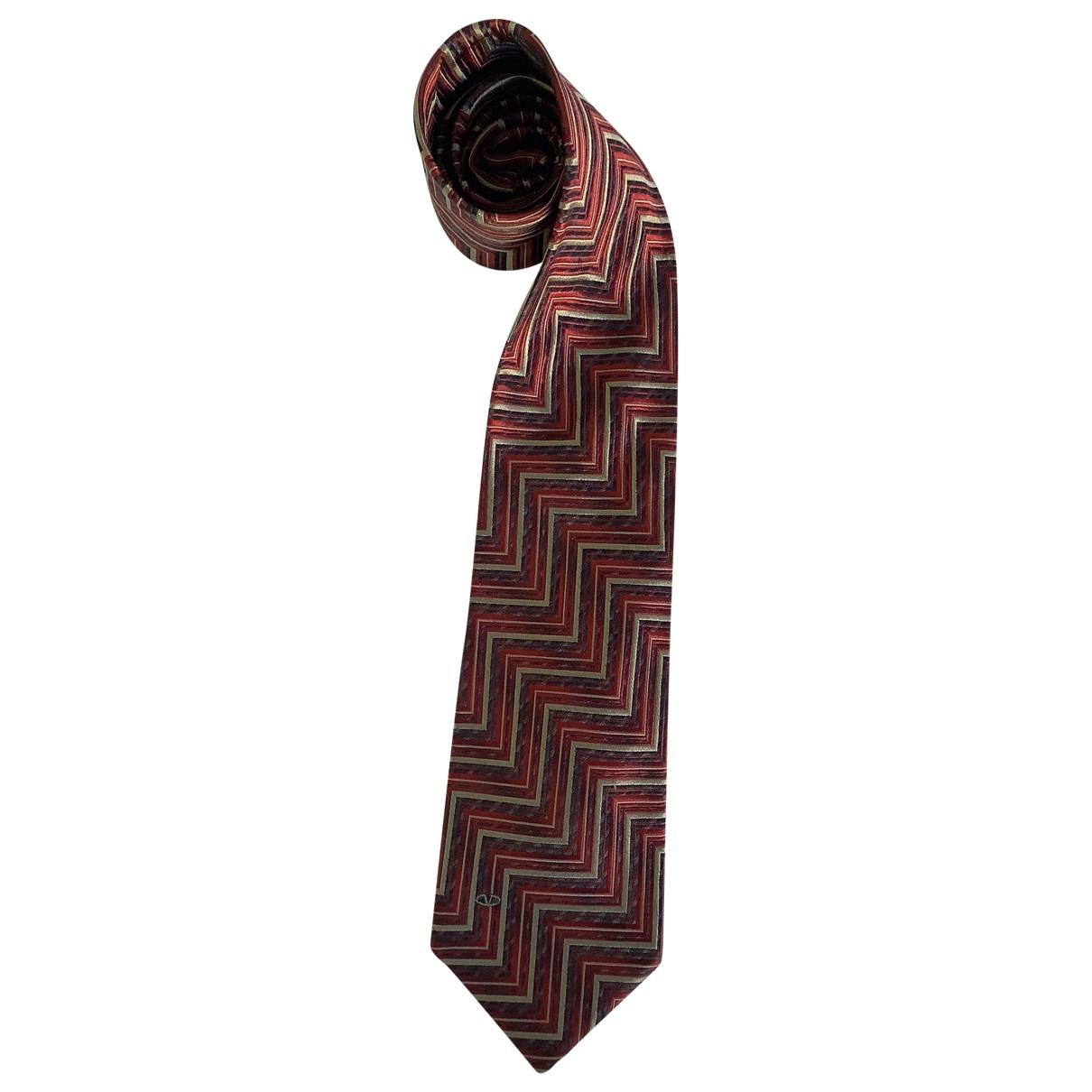 Valentino Garavani - Cravates   pour homme en soie - bordeaux