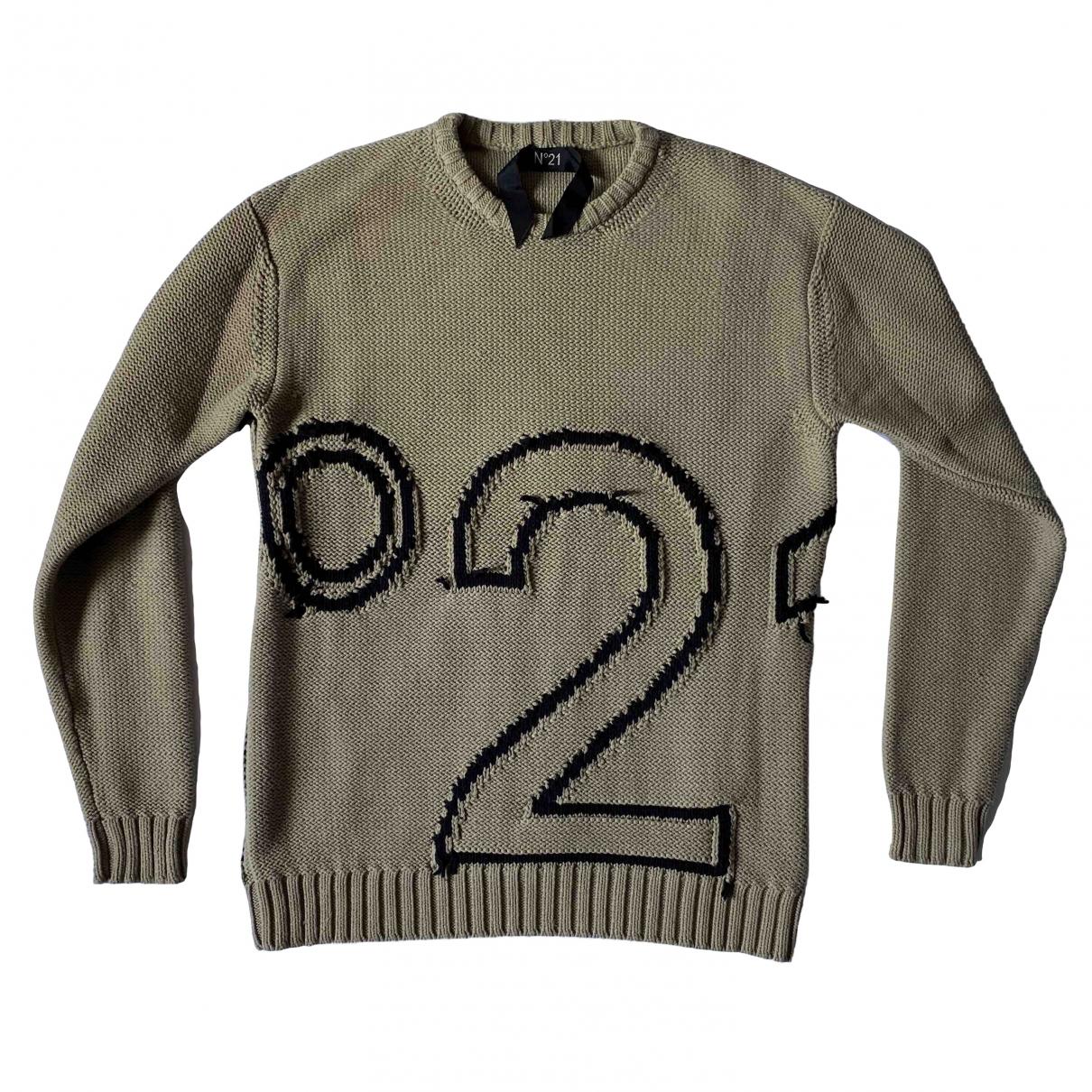 N°21 \N Pullover.Westen.Sweatshirts  in  Beige Baumwolle