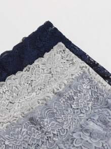 3pack Floral Lace Panty Set