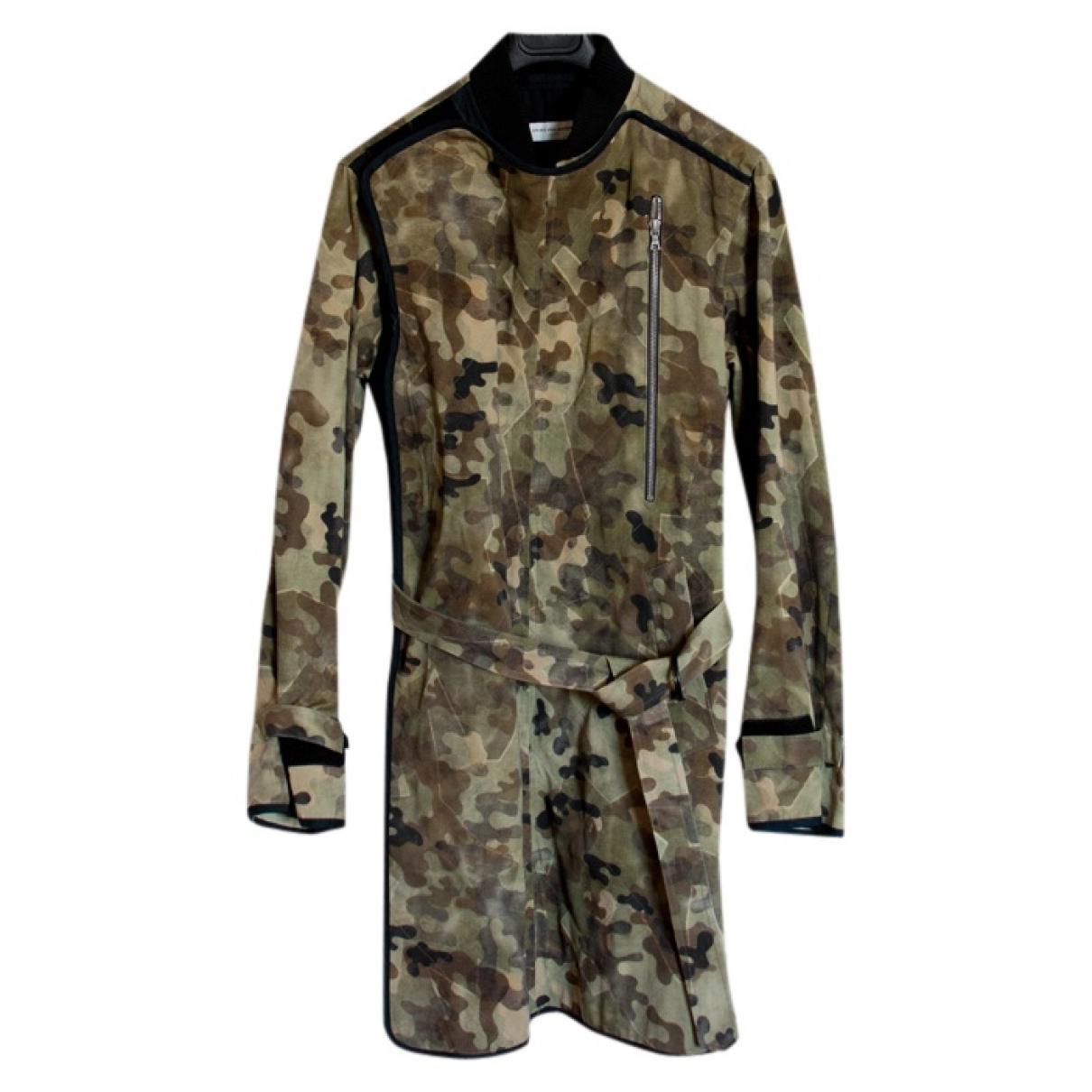 Dries Van Noten \N Khaki Cotton coat  for Men 48 FR
