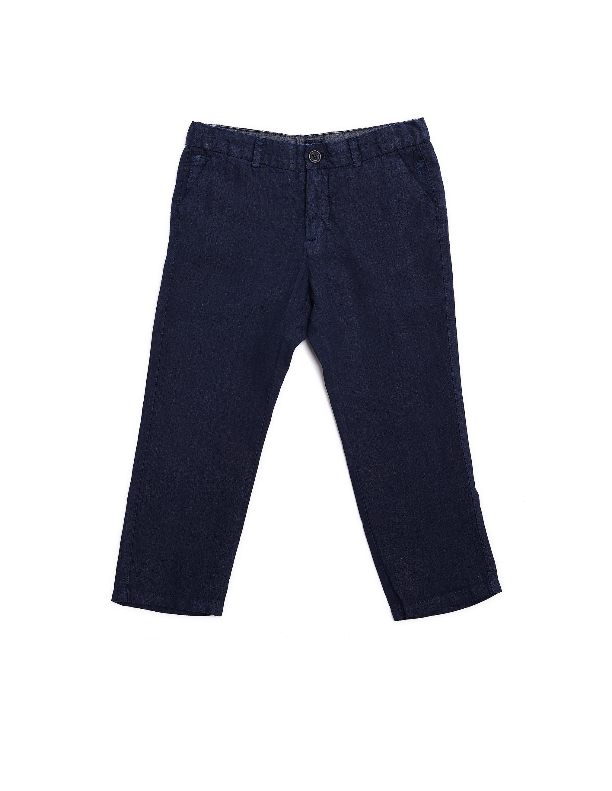 120% Lino Kids Blue Linen Trousers