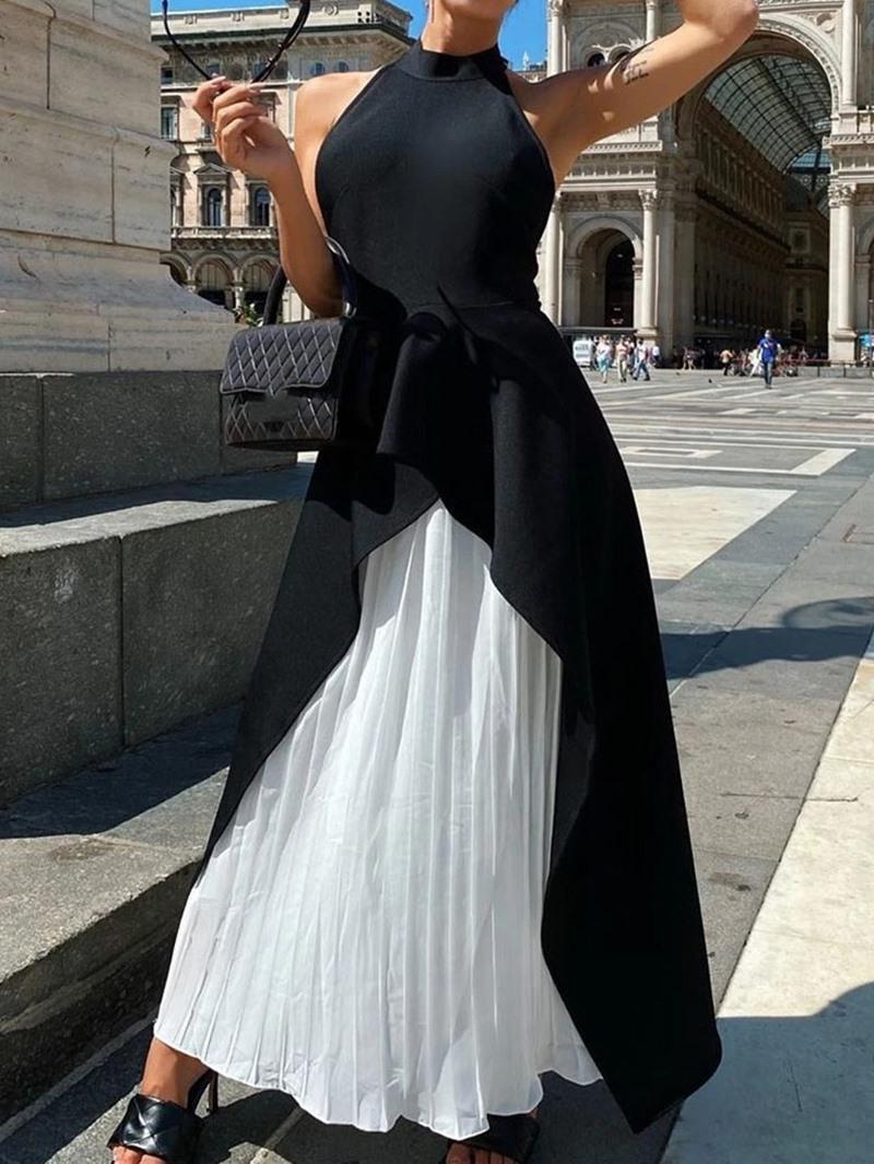 Ericdress Backless Sleeveless Ankle-Length Sexy Plain Dress