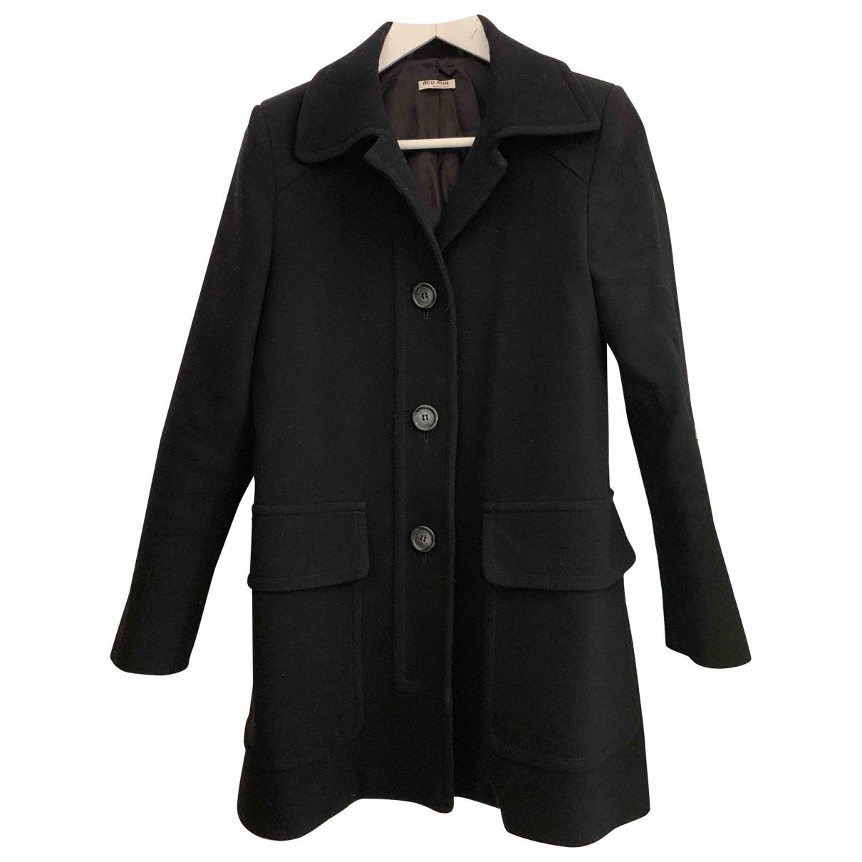 Miu Miu - Manteau   pour femme en laine - noir