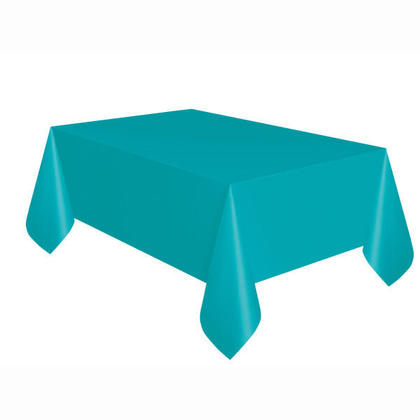 Party Plastic Table Cover Rectangular, Caribbean Teal Solid 54