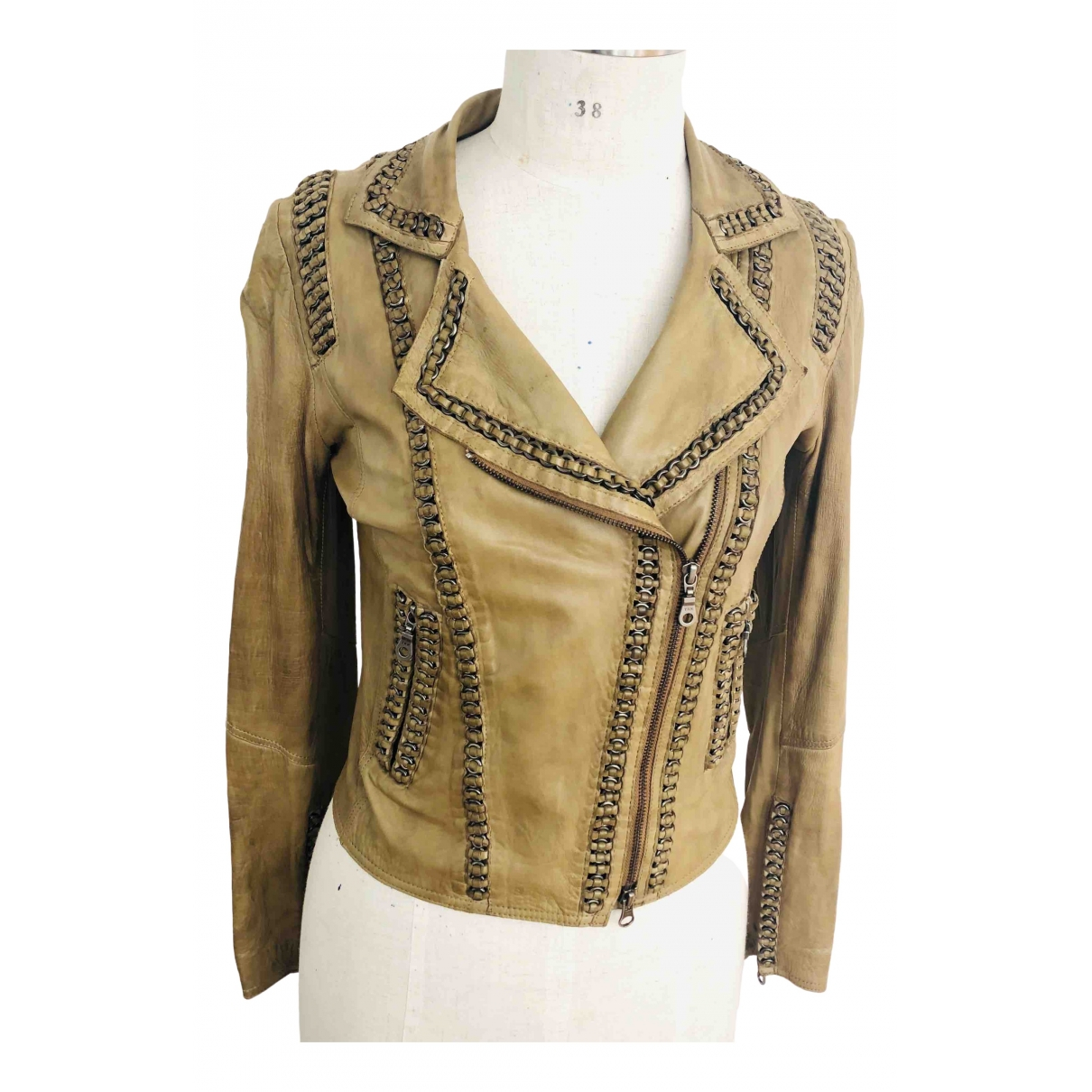 Sylvie Schimmel \N Camel Leather jacket for Women 38 FR