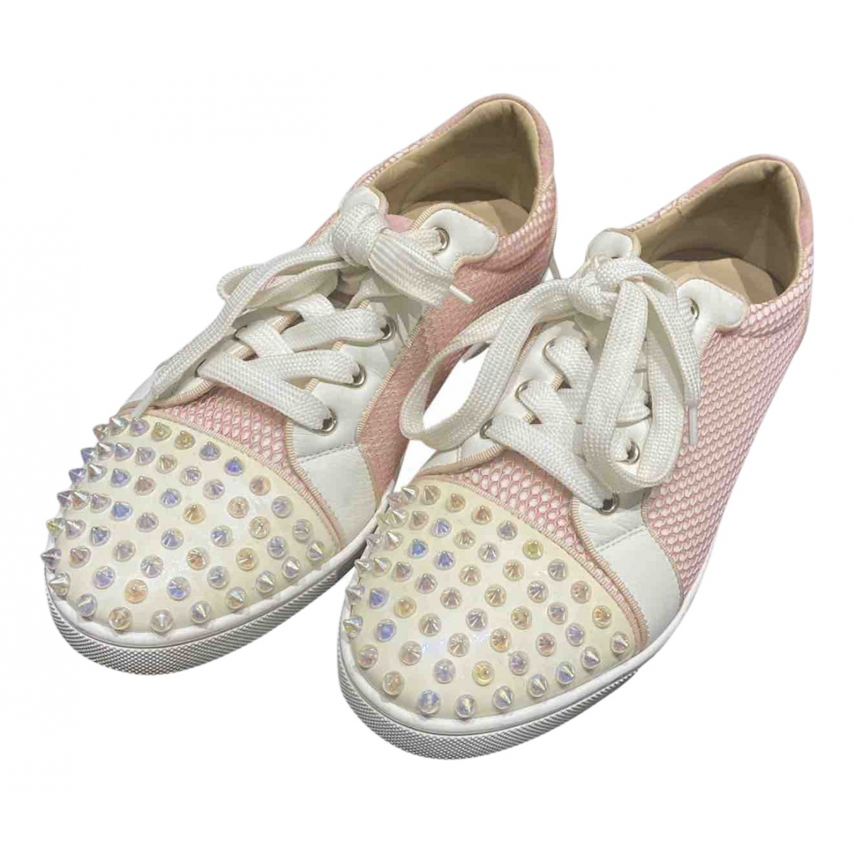 Christian Louboutin Gondolita Pink Cloth Trainers for Women 40.5 EU