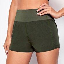 Shorts deportivos de cintura ancha