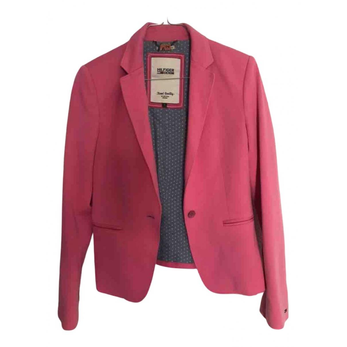 Tommy Hilfiger - Veste   pour femme en coton - rose