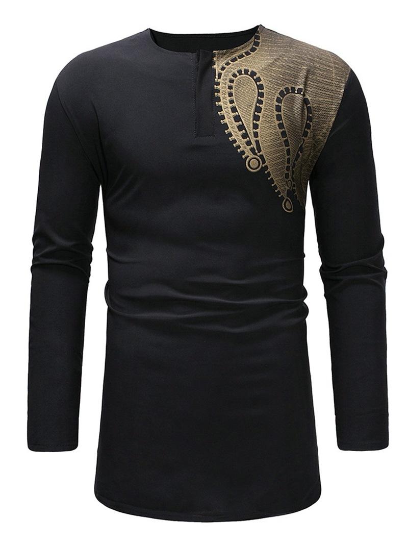 Ericdress African Fashion Dashiki Geometric Printed Scoop Mens Casual T Shirts