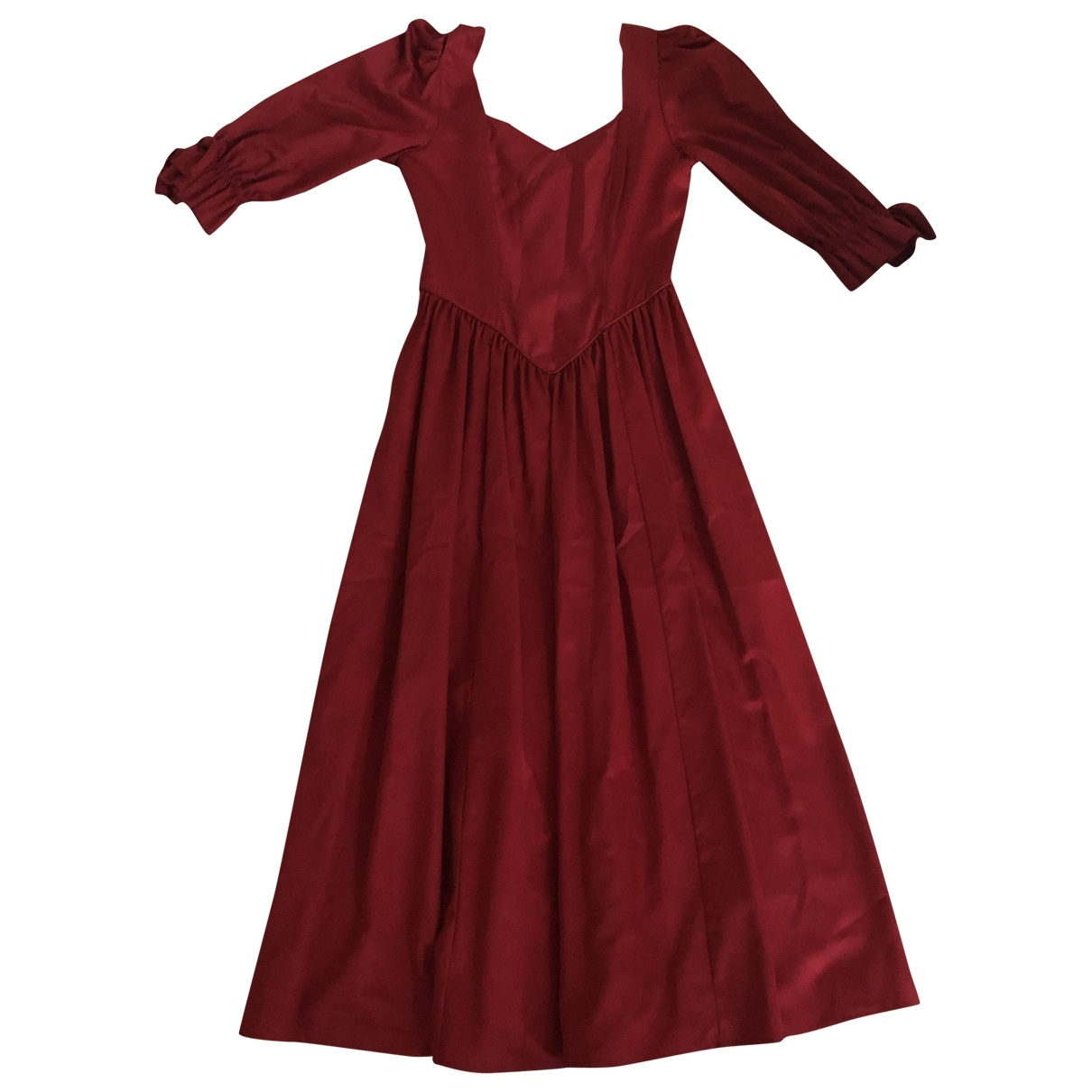 Non Signé / Unsigned \N Red Cotton dress for Women 36 FR