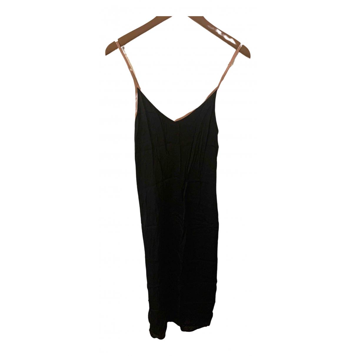 Non Signé / Unsigned N Black Silk dress for Women S International