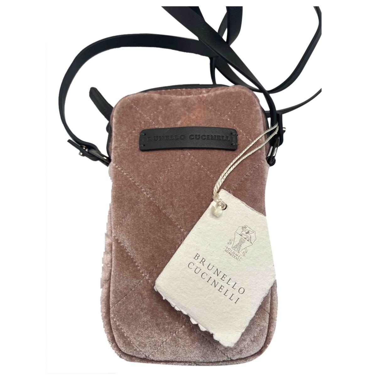 Brunello Cucinelli N Pink Velvet handbag for Women N