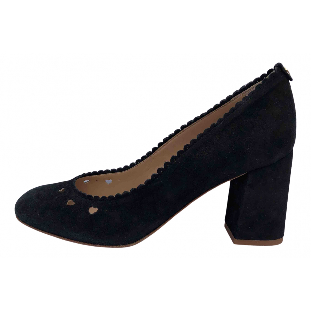 Twin Set N Black Suede Heels for Women 38 EU