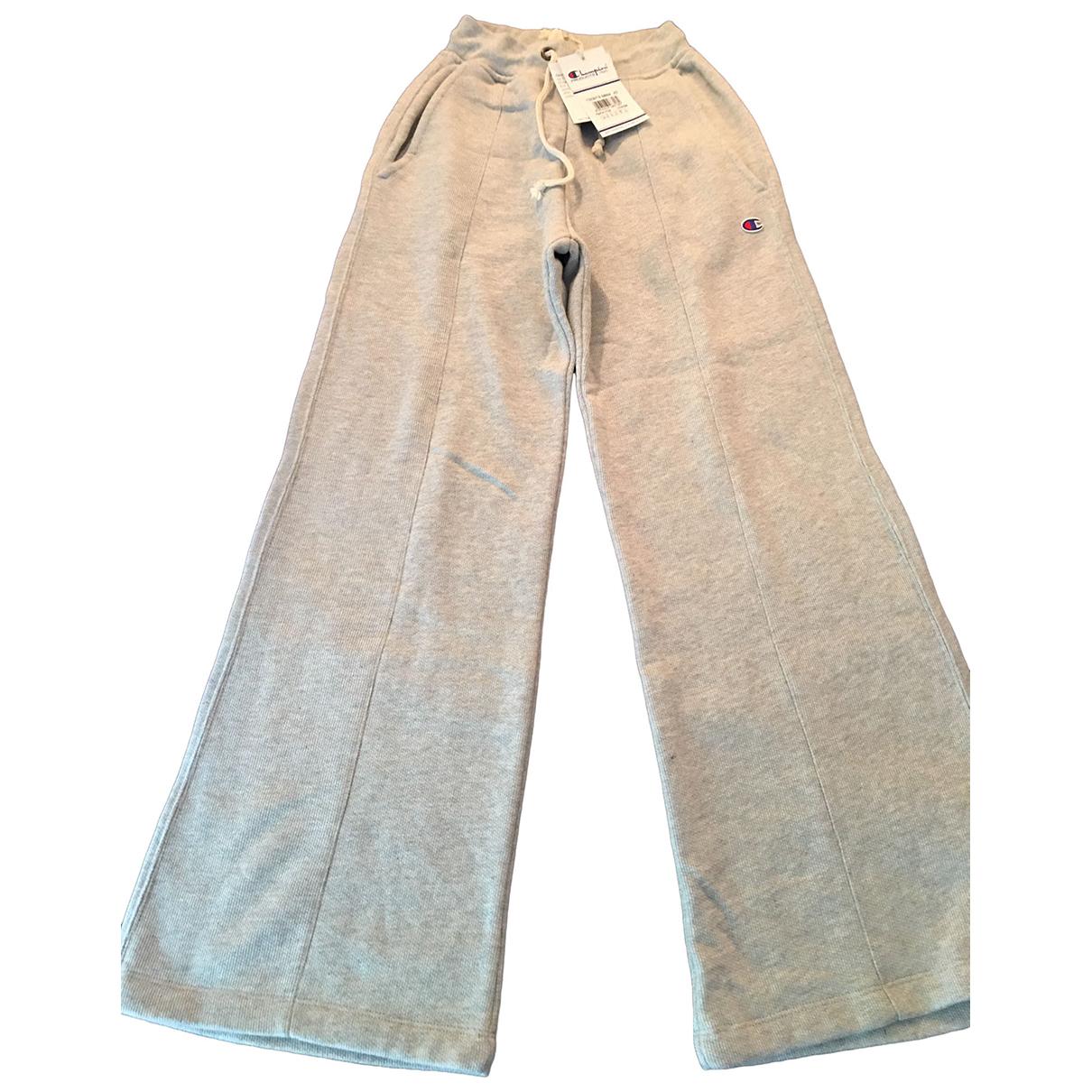 Champion - Pantalon   pour femme en coton - gris