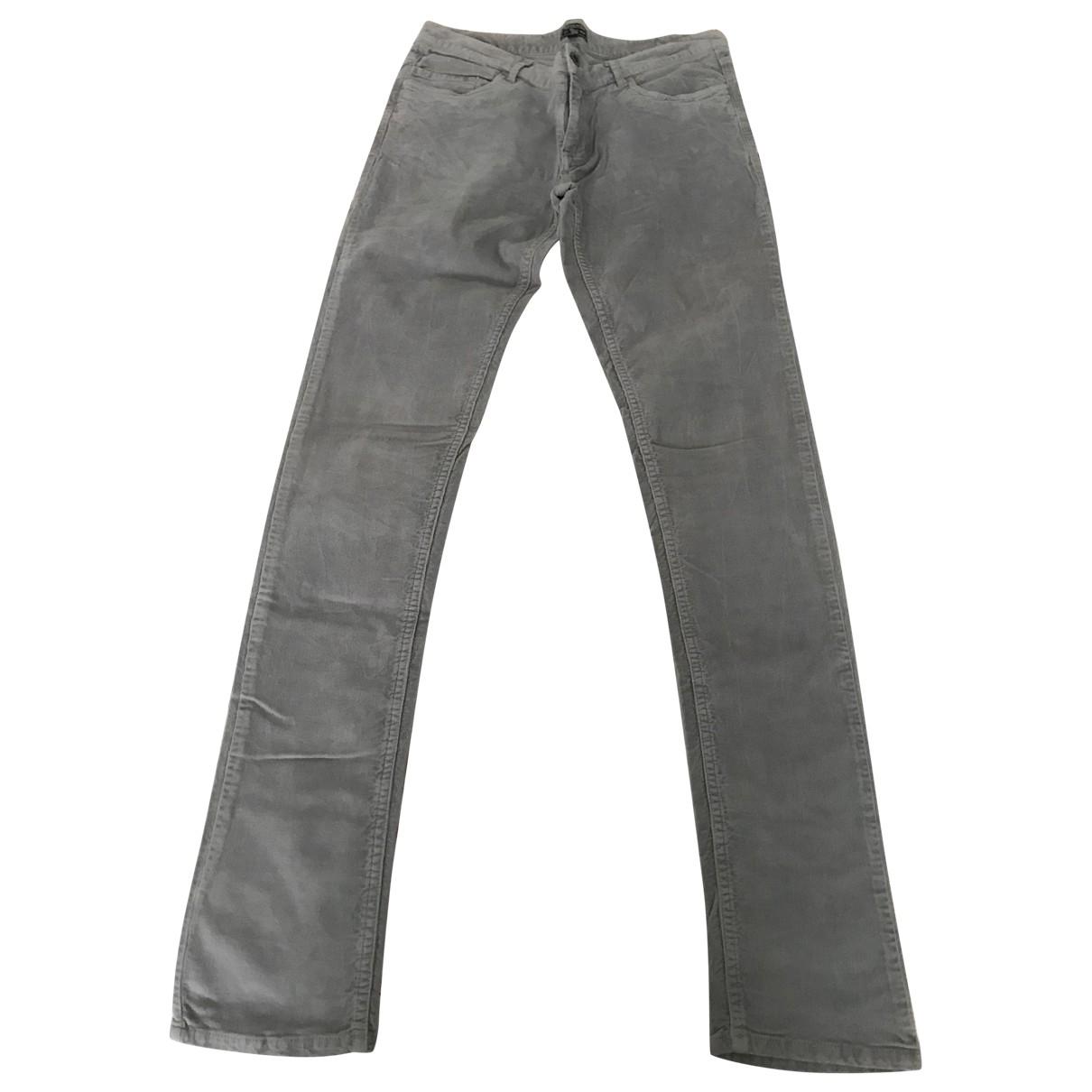Pantalones en Algodon Gris Woolrich
