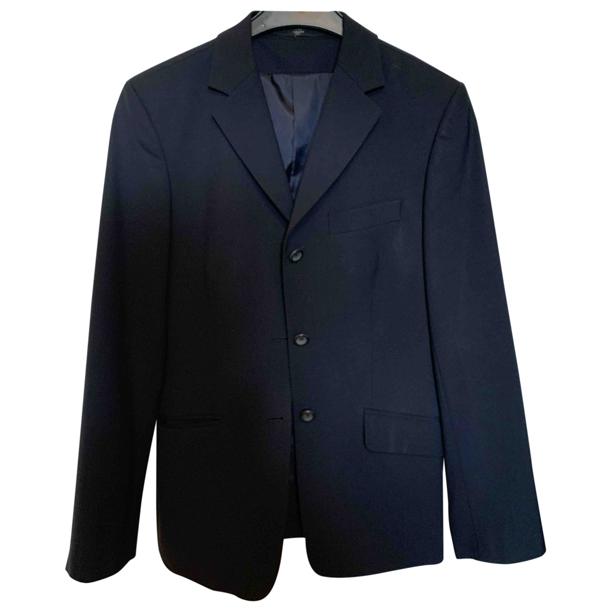 Non Signé / Unsigned \N Blue Wool jacket for Women 36 FR