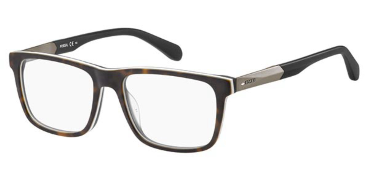 Fossil FOS 7027 N9P Men's Glasses Tortoise Size 53 - Free Lenses - HSA/FSA Insurance - Blue Light Block Available