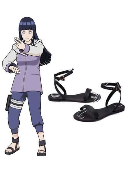 Milanoo Naruto Anime Prop Shippuden Hyuga Hinata Summer Sandals Cosplay Shoes Halloween