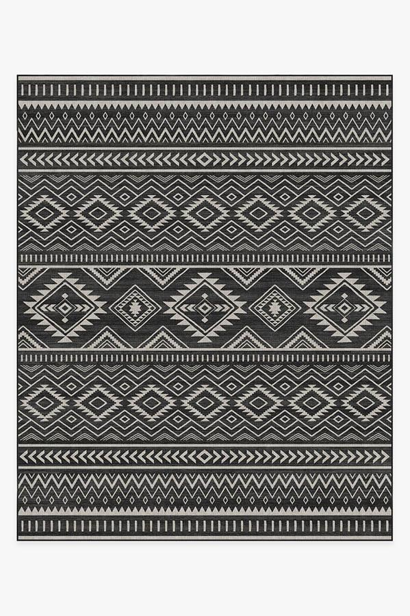 Washable Rug Cover | Arizona Black Rug | Stain-Resistant | Ruggable | 8'x10'