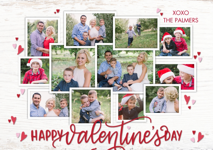 Valentine's Cards 5x7 Cards, Premium Cardstock 120lb, Card & Stationery -Valentine Rustic Collage by Tumbalina