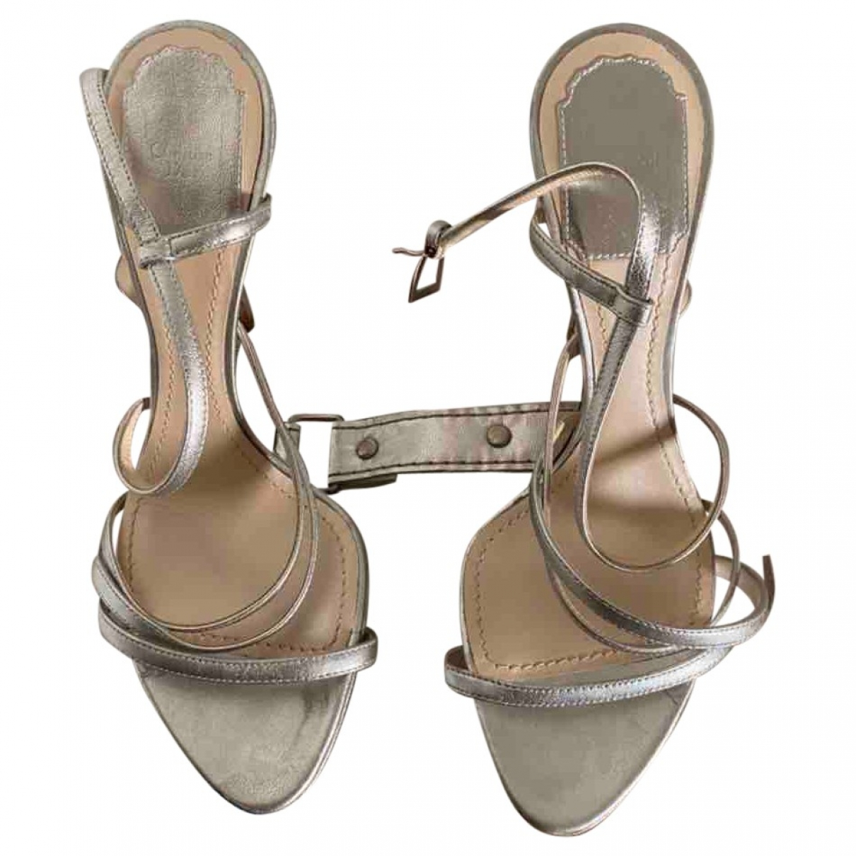 Dior \N Silver Leather Sandals for Women 36.5 EU