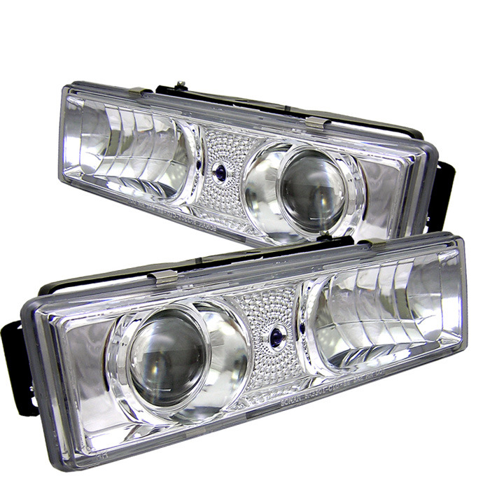 Spyder Auto PRO-YD-CCK88-C Chrome Projector Headlights Chevrolet C/K Series 1500 88-00