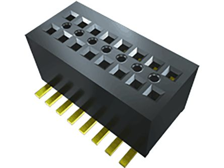 Samtec , CLE 0.8mm Pitch 20 Way 2 Row Right Angle PCB Socket, Surface Mount, Solder Termination (69)