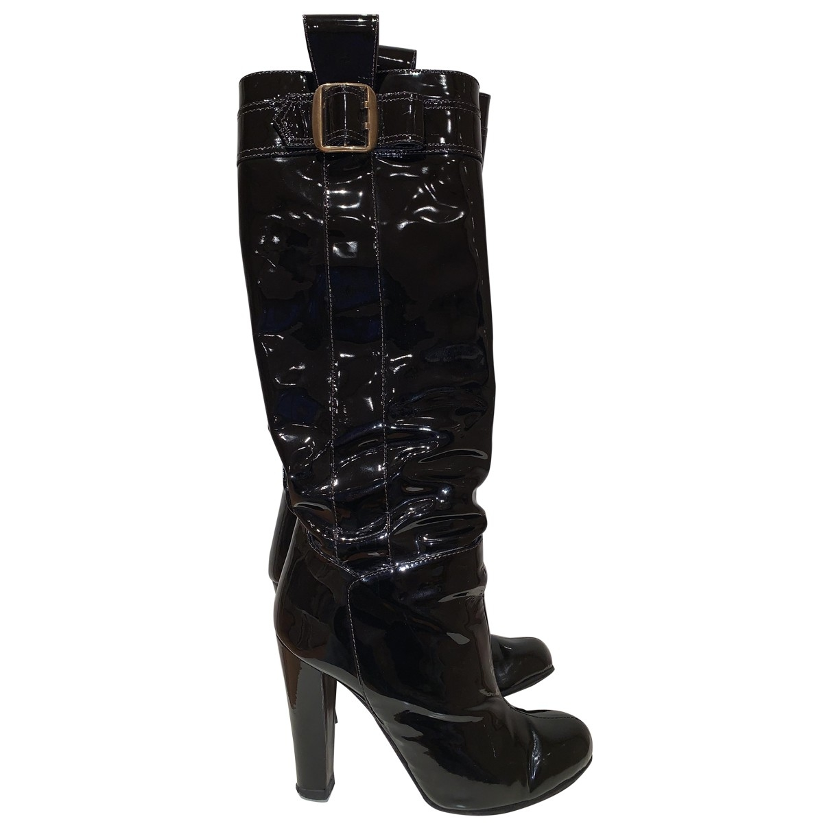 Dolce & Gabbana \N Black Patent leather Boots for Women 37.5 EU