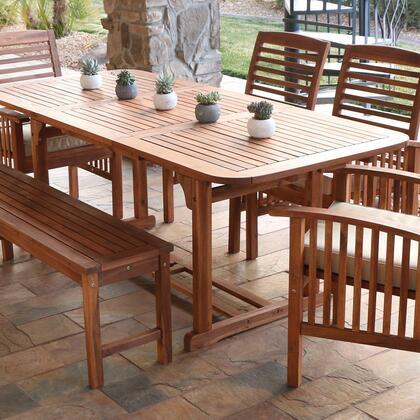 OWTEXBR Acacia Wood Patio Butterfly Table -