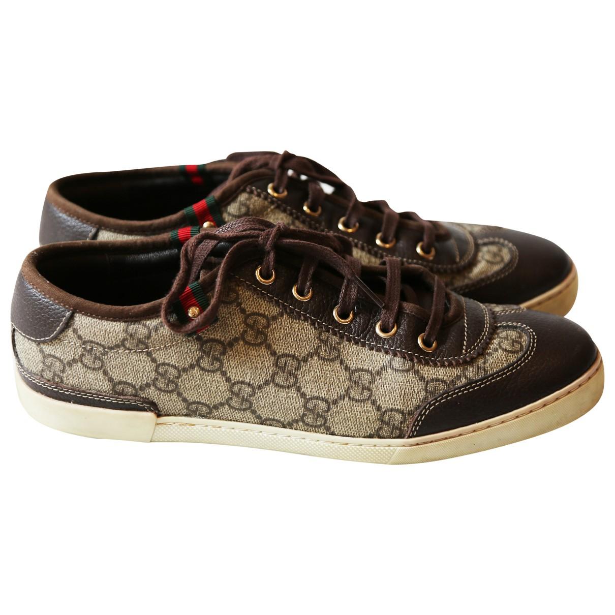 Gucci \N Sneakers in  Braun Leinen