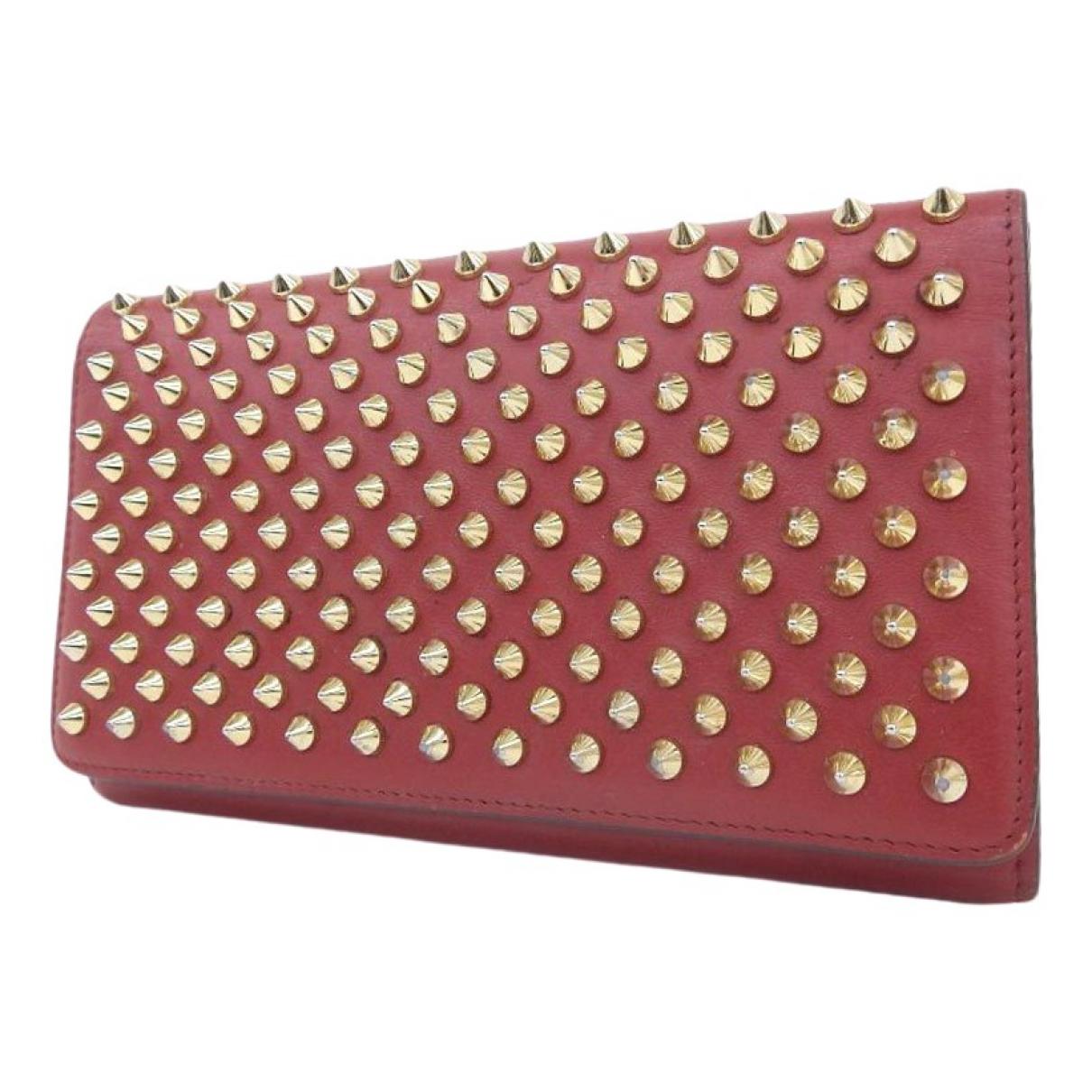 Christian Louboutin - Portefeuille   pour femme en cuir - rouge