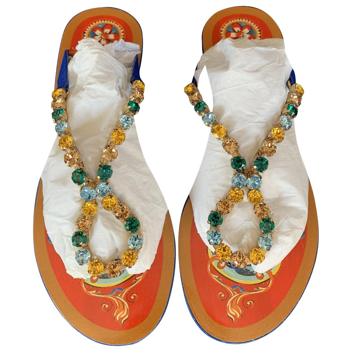 Dolce & Gabbana \N Blue Glitter Sandals for Women 36 EU
