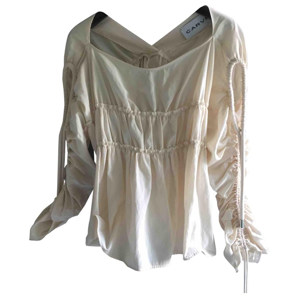 Carven \N Beige Cotton  top for Women 38 FR