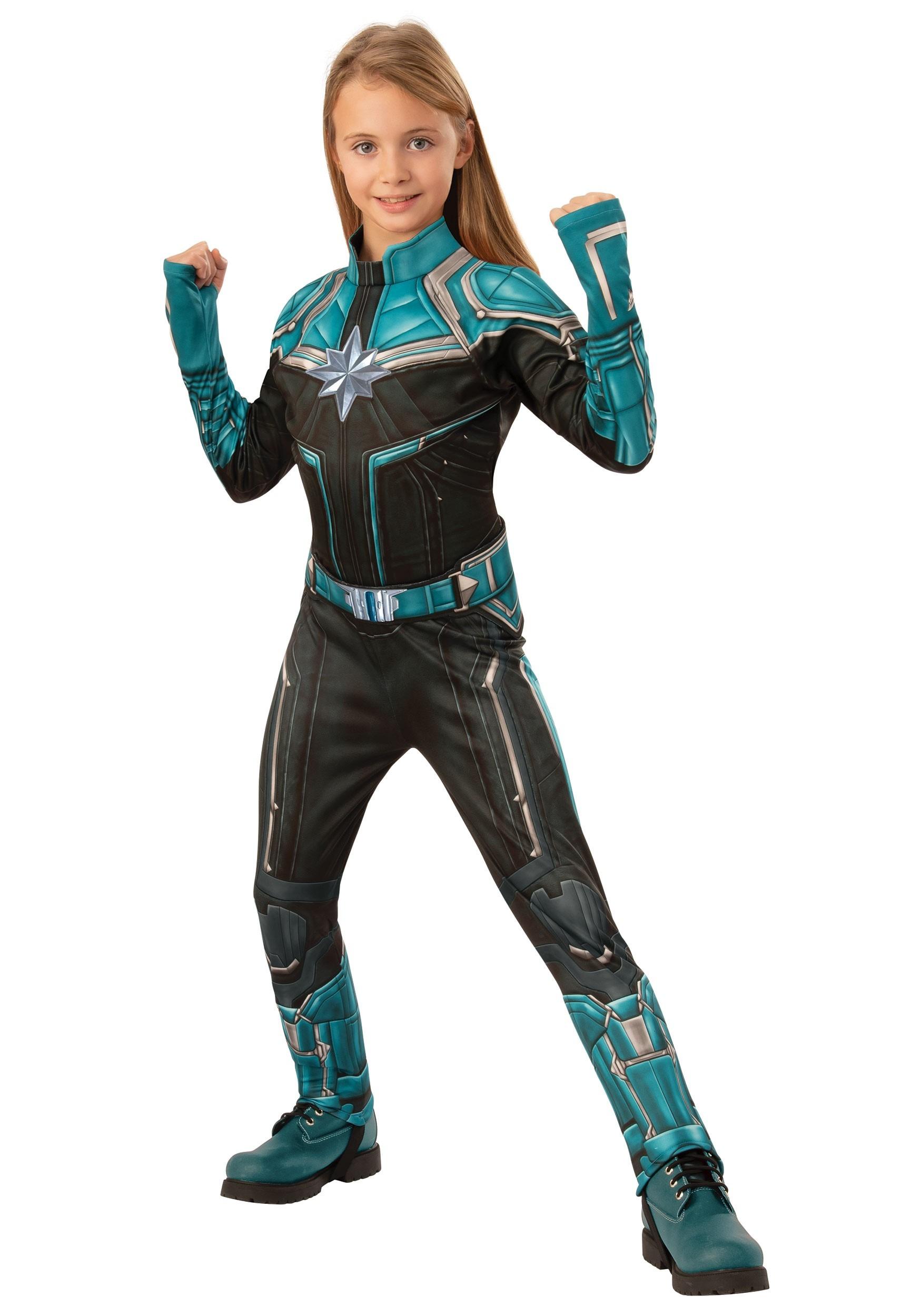 Deluxe Captain Marvel Kree Suit Girls Costume