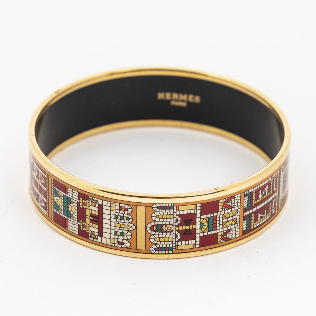 Hermes \N Armband in  Schwarz Silber