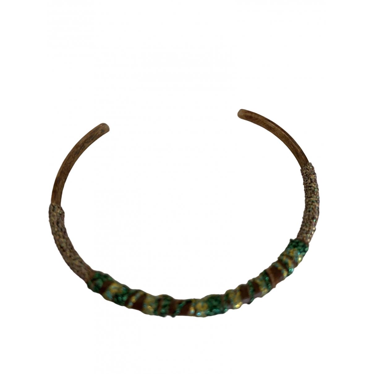 5 Octobre - Bracelet   pour femme en metal - vert